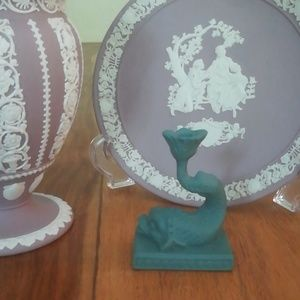 Wedgwood Dolphin Candlestick Holder